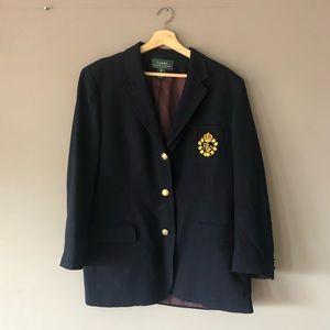 Ralph Lauren navy blue gold crest blazer 16